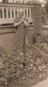 Anna Gomulka Redzej, 3663 Clippert St., Detroit (ca. 1942)
