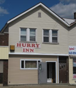 Hurry Inn, 19430 W. Warren Ave., Warrendale district, Detroit, owned by Johnny Cipkowski In the 1940s. (Photo: Laurie A. Gomulka, September 5, 2010)