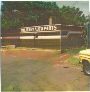 Military Auto Parts main building exterior (ca. 1981)