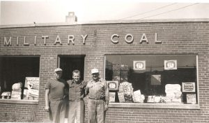 "Military Coal. Left to right: Roy Martin (co-owner), Casimer Gomulka, and Stanley (""Chip"") Cipkowski (co-owner) (September 1952)"