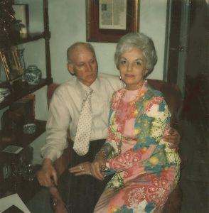 Roy and Sophia Martin in their Westmoreland home (ca. 1976)